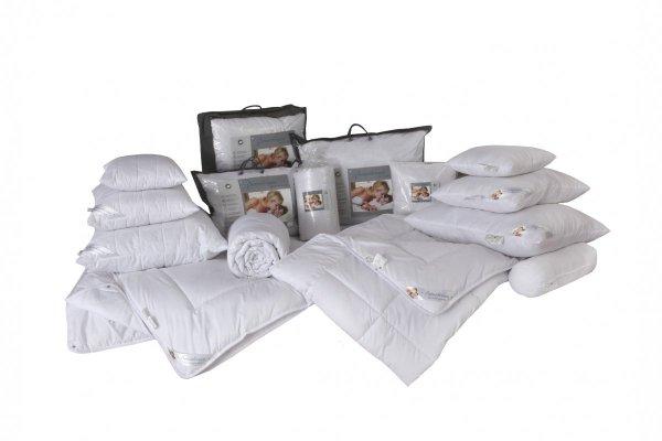 Antyalergiczna poduszka pikowana 40x40 cm z zamkiem Sensidream dla skóry wrażliwej