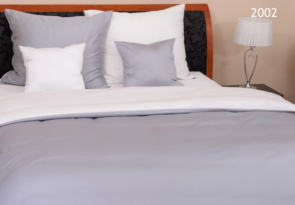 Biało - Szara pościel 160x200 bawełna egipska - makosatyna Oritex wz 2002