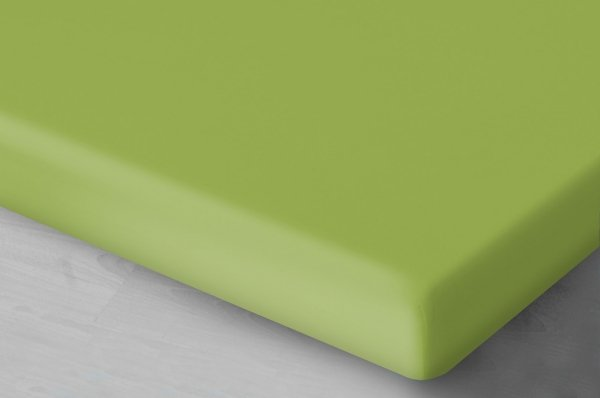 Pastelowo zielone prześcieradło Jersey 200x220 Oritex