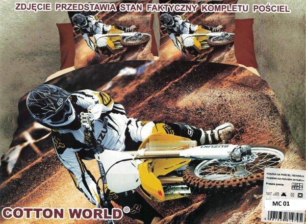 Pościel 3D Enduro Cross 160x200 Cotton World 100% mikrowłókno wz. MC 01
