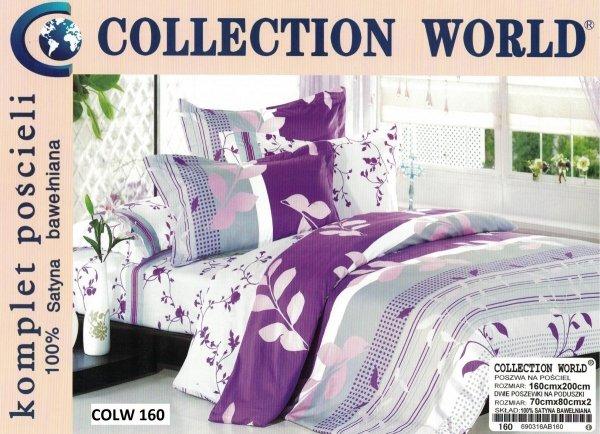 Pościel Collection World 160x200 Fioletowa w Kwiaty