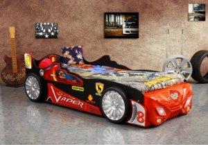 Łóżka w kształcie samochodów