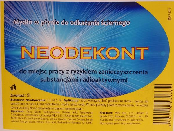 NEODEKONT - mydło dekontaminacyjne 5 l