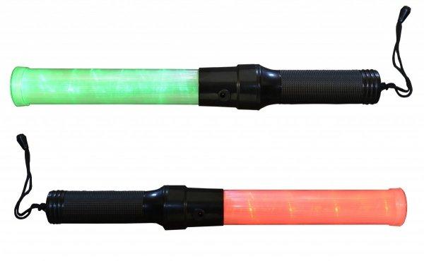 Latarka LED do kierowania ruchem akumulatorowa zielono czerwona