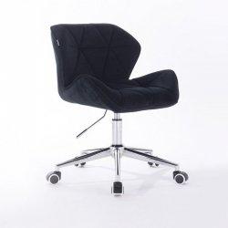 Profesjonalny czarny fotel dla stylistki rzęs