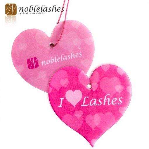 Śliczne zawieszki zapachowe w kształcie serduszka I love Lashes