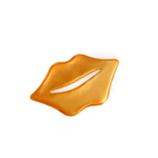 Złota maseczka na usta
