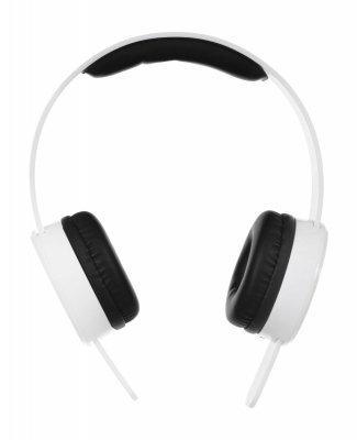 Słuchawki z mikrofonem Qoltec 50824 (nauszne; TAK; kolor biały