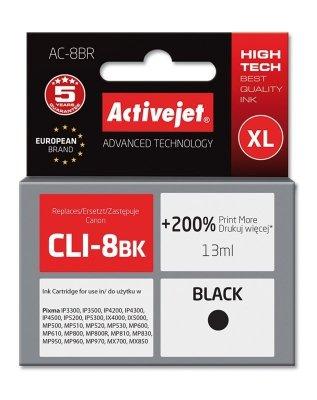 Tusz Activejet AC-8BR (zamiennik Canon CLI-8Bk; Premium; 13 ml; czarny)