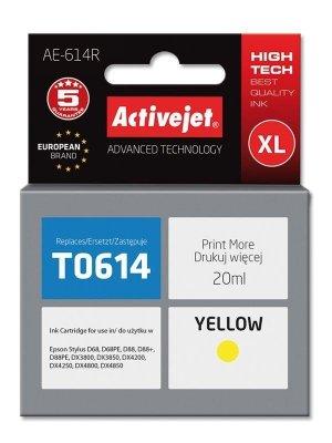 Tusz Activejet AE-614R (zamiennik Epson T0614; Premium; 18 ml; żółty)