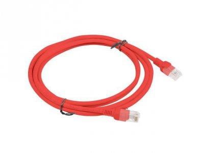 Lanberg PCU5-10CC-0200-R kabel sieciowy 2 m Cat5e U/UTP (UTP) Czerwony