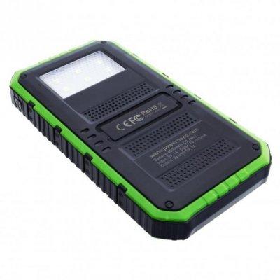 Ładowarka solarna PowerNeed S6000G (6000mAh; USB; kolor zielony)