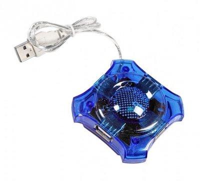 Hub Esperanza Star EA150B (4x USB 2.0; kolor niebieski)