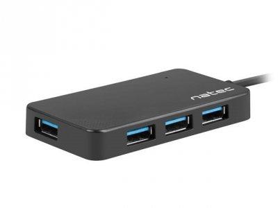 Hub NATEC Moth NHU-1342 (4x USB 3.0; kolor czarny)