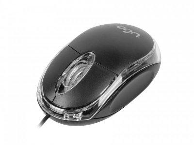 Mysz UGO Simple UMY-1007 (optyczna; 1000 DPI; kolor czarny)