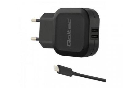 Ładowarka sieciowa Qoltec 50188 (3400 mA; 17W; USB, USB typ C)