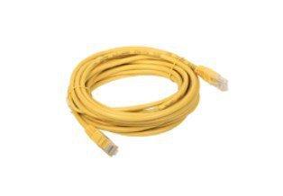A-LAN KKU5ZOL0.5 kabel sieciowy 0,5 m Cat5e U/UTP (UTP) Żółty