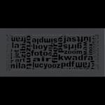KRATKA kominkowa ABC  grafitowa 17x37