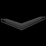 Kratka kominkowa LUFT narożny prawy czarny 54,7x76,6x6