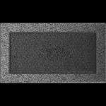 KRATKA kominkowa 17x30 czarno-srebrna