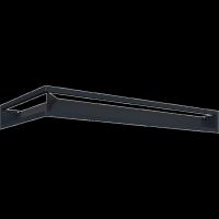 Kratka kominkowa LUFT SF narożny lewy grafitowy 80x40x9