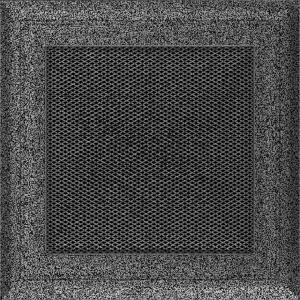 KRATKA kominkowa OSKAR 17x17 czarno-srebrna