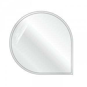 Podstawa szklana pod piec wolnostojący okrągła-narożna 1100x1100x6mm