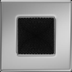 KRATKA kominkowa 11x11 niklowana