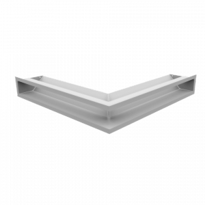 KRATKA kominkowa LUFT SF narożny biały 56x56x9