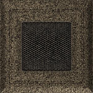 KRATKA kominkowa OSKAR 11x11 czarno-złota