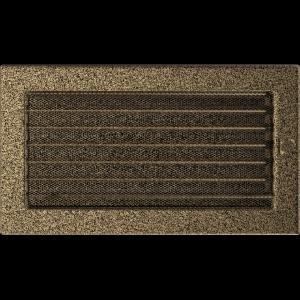 KRATKA kominkowa 17x30 czarno-złota z żaluzją