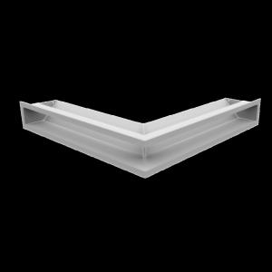 KRATKA kominkowa LUFT narożny biały 56x56x9