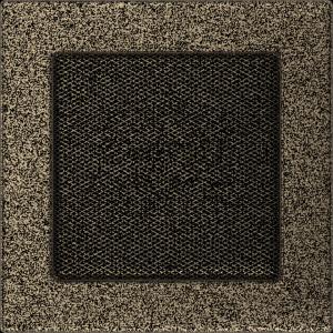 KRATKA kominkowa 17x17 czarno-złota