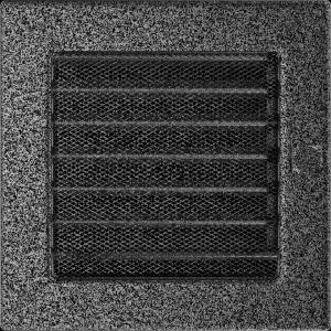 KRATKA kominkowa 17x17 czarno-srebrna z żaluzją