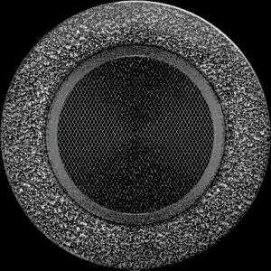 KRATKA kominkowa okrągła czarno-srebrna  fi 125