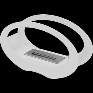 BIOKOMINEK ECHO biały z certyfikatem TÜV