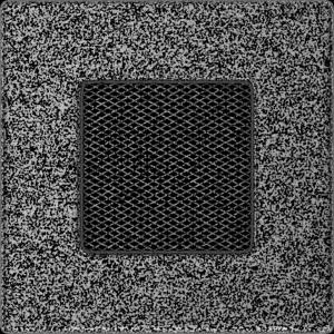 KRATKA kominkowa 11x11 czarno-srebrna