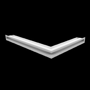 KRATKA kominkowa LUFT narożny lewy biały 76,6x54,7x6