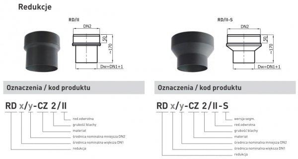 Redukcja zwiększająca z rury DN1 200mm
