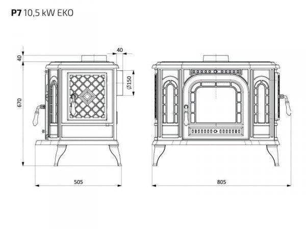 KAWMET Piec P7 EKO 10,5 kW