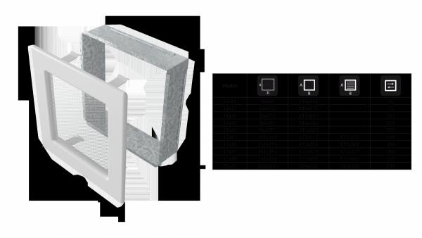 KRATKA kominkowa  17x17 biała z żaluzją