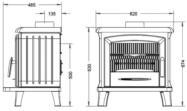 NORIK antracyt - 6 kW