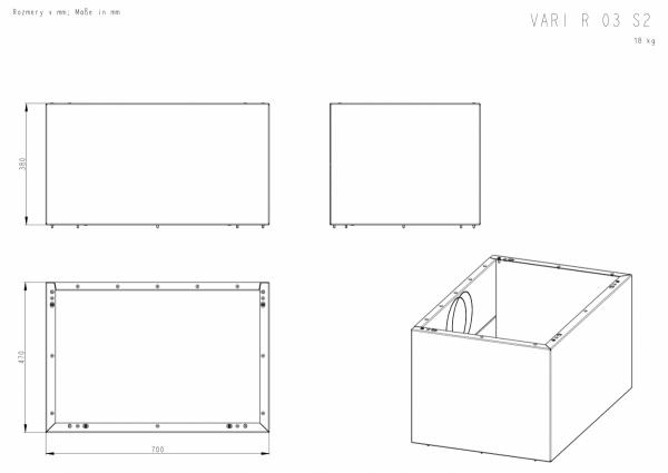ROMOTOP Variant 03 R+ moduł górny 38 cm