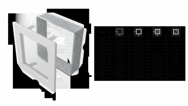 KRATKA kominkowa 11x17 czarna