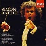 Simon Rattle, Nielsen, Sibelius, City Of Birmingham Symphony Orchestra, Philharmonia Orchestra – Symphony No.4 'The Inextinguishable' - Pan & Syrinx - Symphony No.5 in E Flat  (CD)