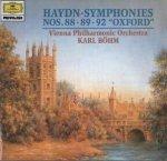 Hayden - Karl Böhm, Wiener Philharmoniker - Symphonien Nos. 88 - 89 - 92 Oxford (CD)