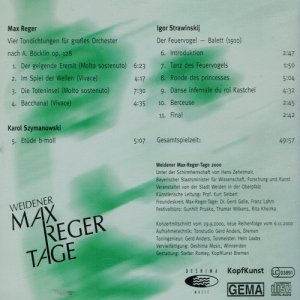 Reger, Szymanowski, Strawinskij - Janusz Przybylski Und Das Orchester Der Akademia Muzyczna Gdańsk (CD)