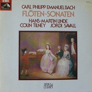 Carl Philipp Emanuel Bach, Hans-Martin Linde, Colin Tilney, Jordi Savall - Flöten Sonaten (LP)