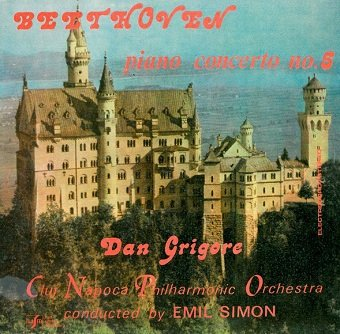 Beethoven - Dan Grigore, Cluj Napoca Philharmonic Orchestra Conducted By Emil Simon - Piano Concerto No.5 (LP)