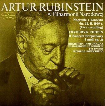 Artur Rubinstein, Fryderyk Chopin - Artur Rubinstein W Filharmonii Narodowej (LP)